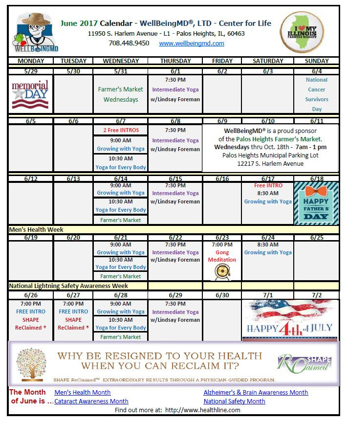 June Calendar Events : Printable june calendarwellbeingmd℠ palos park il